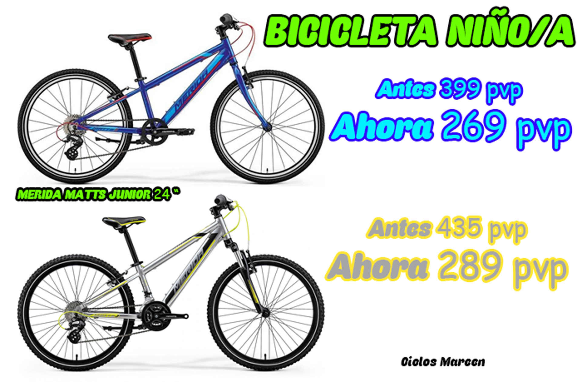 bicicleta junior ciclos marcen merida matts